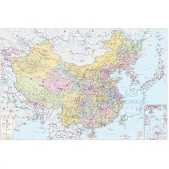 《13年中国(英文)覆膜地图(大一全张)