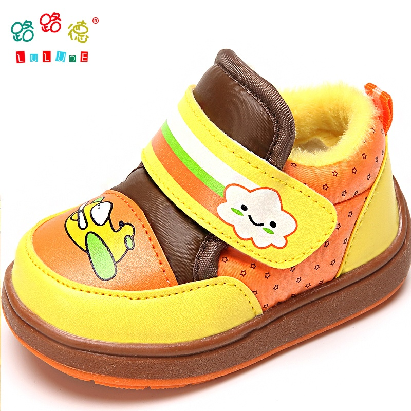路路德 宝宝棉鞋 婴儿鞋 学步鞋 幼儿鞋子 婴儿棉鞋 软底冬款童鞋