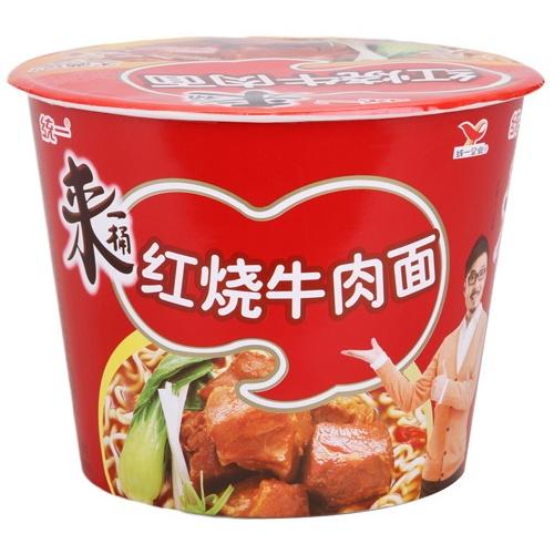 [当当自营]统一 来一桶红烧牛肉面105g*12桶