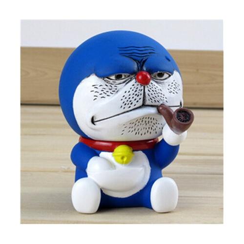 仓库 正版百变哆啦a梦公仔角色扮演机器猫公仔叮当猫创意手办恶搞抽烟