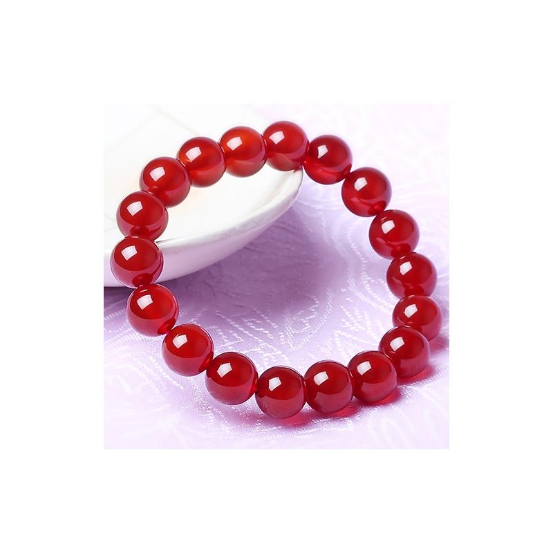 行ing--纯天然红玛瑙圆珠手链