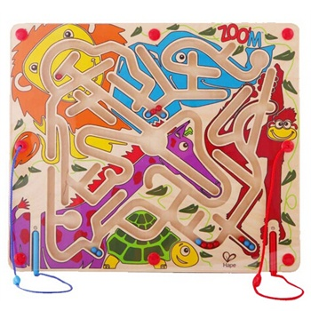 hape动物派对迷宫磁性儿童益智早教玩具