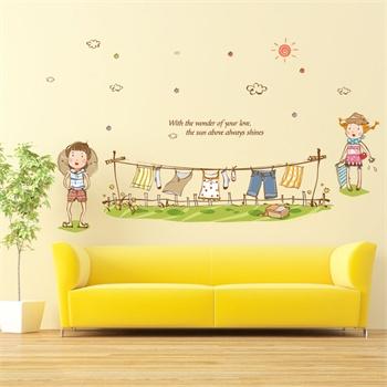儿童房客厅卧室床头背景装饰创意墙贴壁贴壁纸