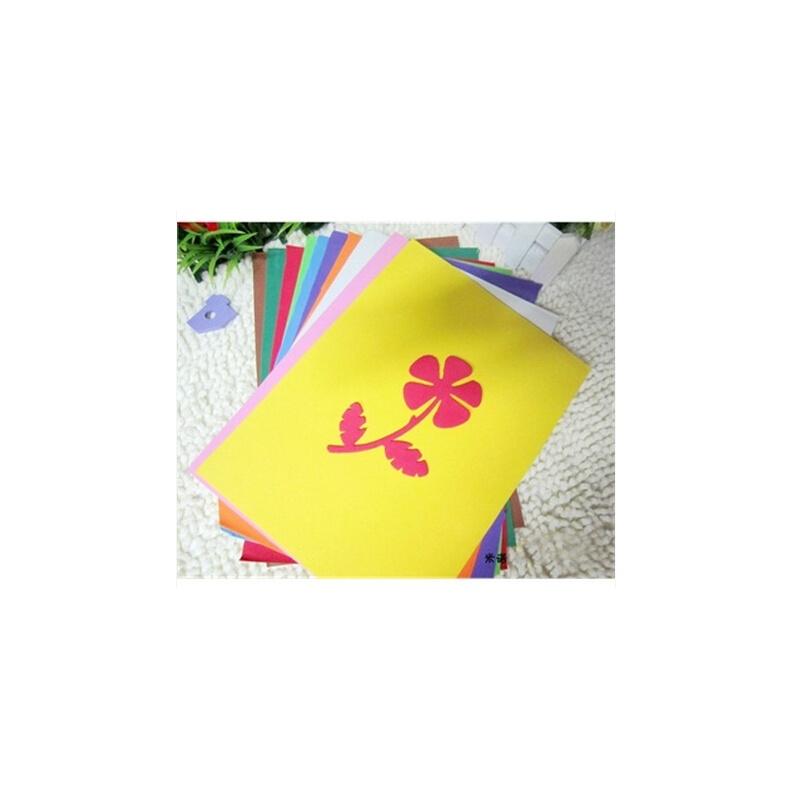 彩色a4海绵纸智慧树波波手工
