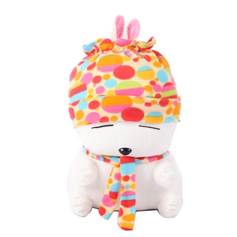 爱满屋 毛绒玩具大号 迷彩流氓兔 可爱兔子 布娃娃 生日礼物女 大号