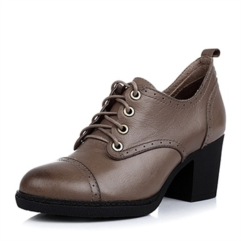 senda/森达牛皮女皮鞋2014秋季91061cm4时尚粗高跟女鞋_灰色,39