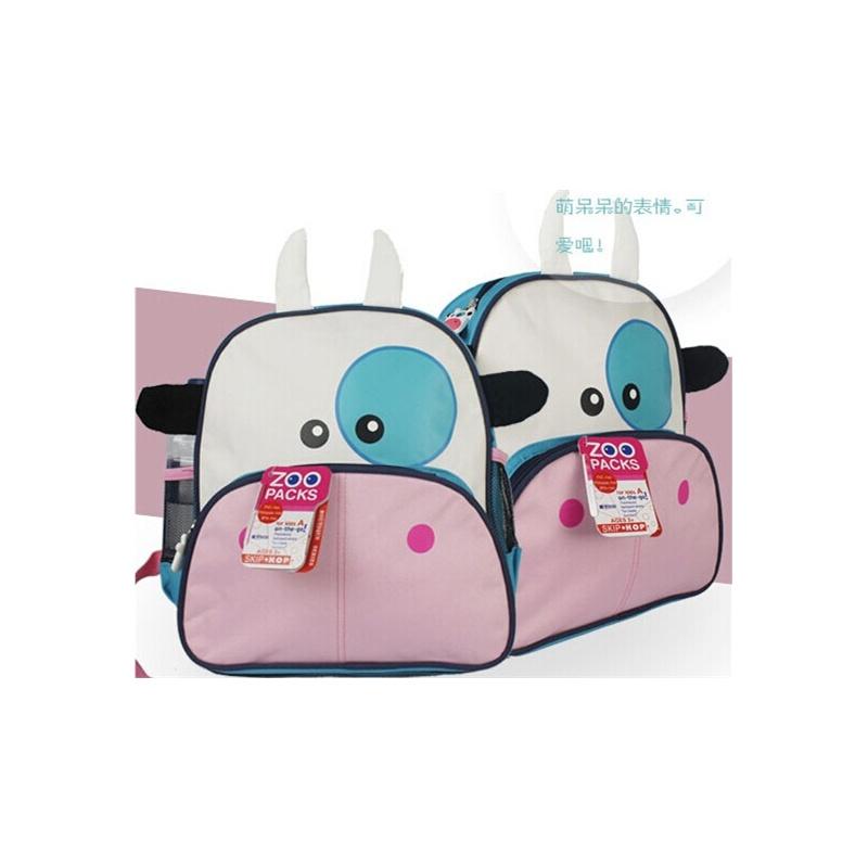 幼儿园卡通动物双肩儿童小书包可爱 性价比高_奶牛