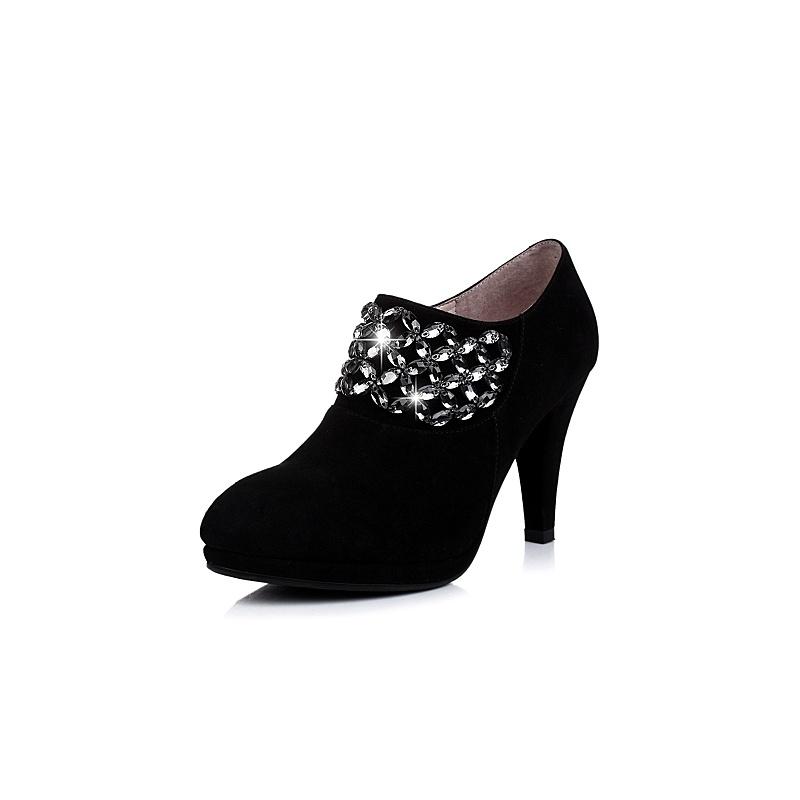 senda/森达羊绒女皮鞋2014秋季t0688cm4水钻时尚高跟女鞋_黑色,35图片