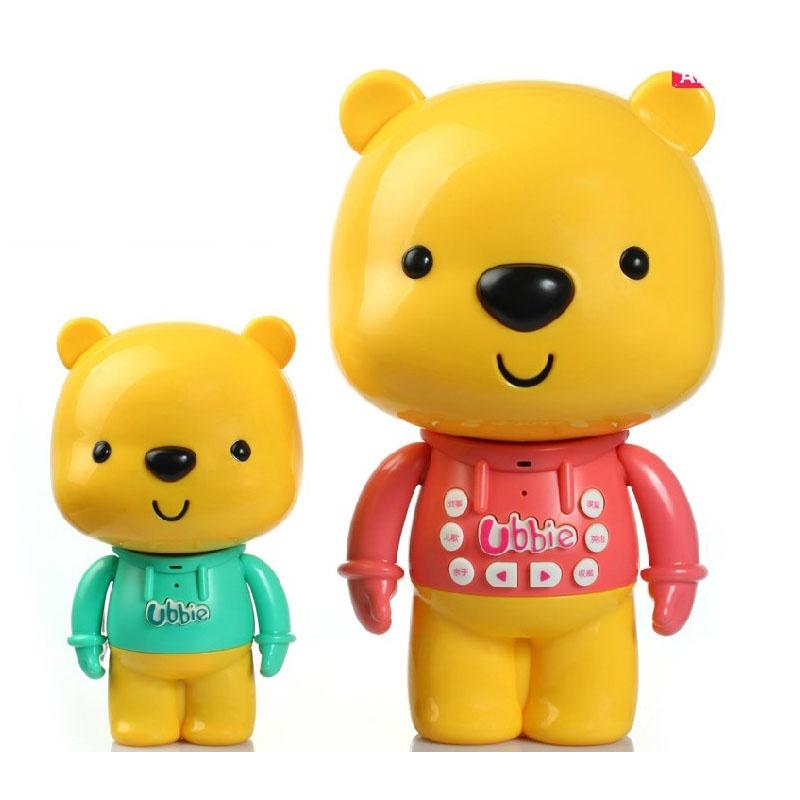 儿童玩具故事机 优彼亲子熊三代二代 小熊优比故事机可充电下载早教机