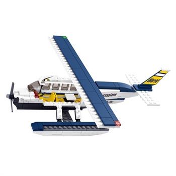 儿童玩具积木 水上飞机 水上训练机 214片小颗粒拼插积木