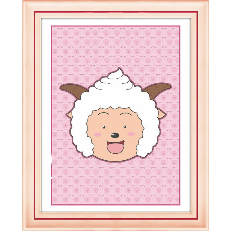 爱艺/aiyi 迷你diy钻石画5d水钻石绣懒羊羊 客厅卡通动漫 中东圆钻画