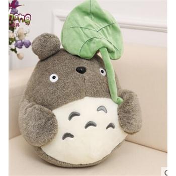 可爱宫崎骏荷叶龙猫 卡通毛绒玩具