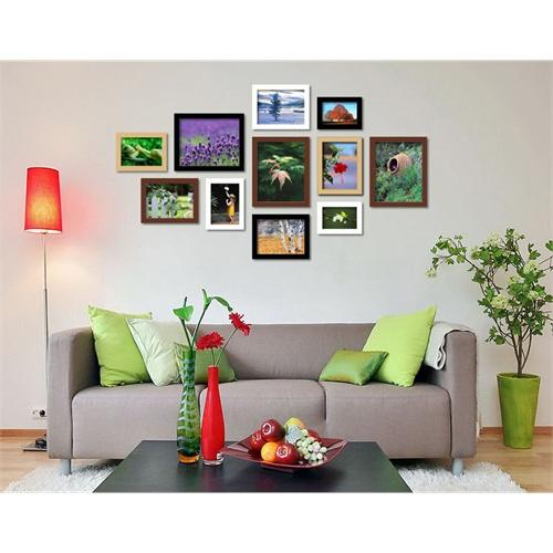 十张照片墙效果图