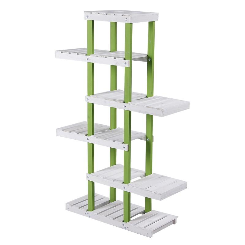 简易实木多层阶梯形花架木头层架子置物架木质落地式地面加高绿萝.