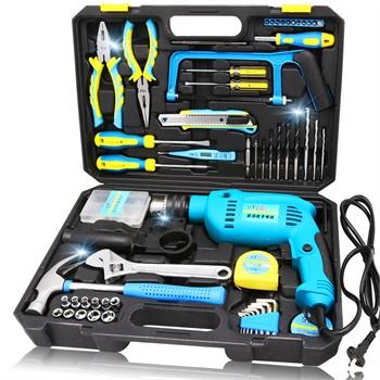 上匠五金工具套装家用组套电工木工工具箱手动维修带