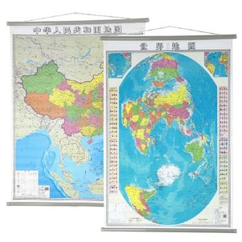 中国地图挂图+世界地图(知识版)1