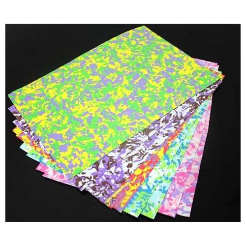 a4 迷彩海绵纸 1mm彩色泡沫纸 diy eva橡塑手工折纸 剪纸