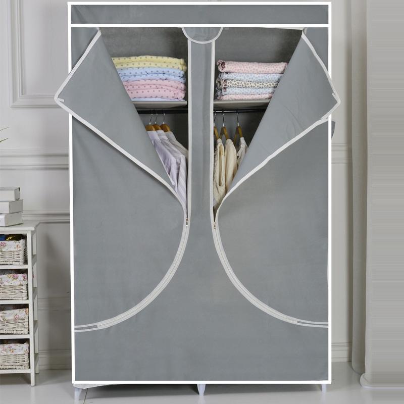 灰色衣柜门图片