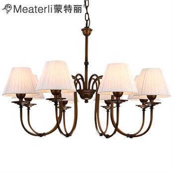 蒙特丽灯饰 客餐厅卧室美式田园复古高档吊灯8052