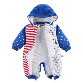 爱佳宝婴儿衣服连体衣宝宝冬装哈衣新生儿服装儿童爬