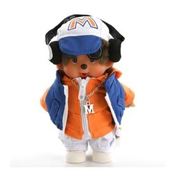 香港童话蒙奇奇娃娃 20cm音乐dj男孩公仔 音乐人生 礼物礼品