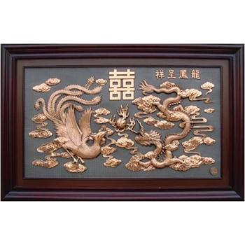 紫铜浮雕六盘山纯铜立体装饰壁画2个规格选择客厅