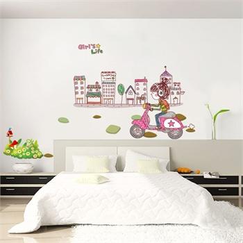 diy可移除墙贴饰客厅卧室儿童房床头背景装饰卡通