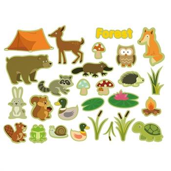 儿童静电贴贴画-动物世界