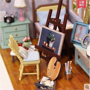 diy小屋最美时光手工拼装建筑小房子模型玩具