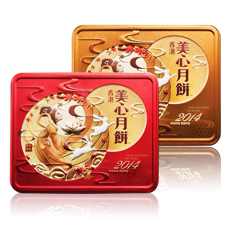 香港美心月饼双白双黄组合