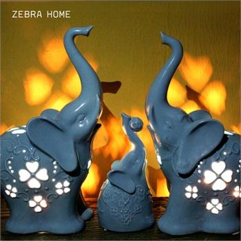 大象结婚礼物欧式台灯卧室床头灯