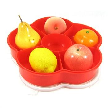 康丰 梅花型密封糖果盒果盘塑料盒干果盒创意果盒喜糖图片