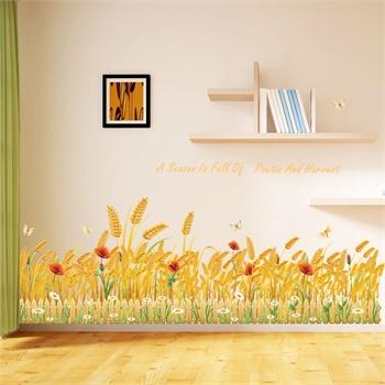 田园风格温馨卧室玄关走廊踢脚线腰线墙贴画玻璃