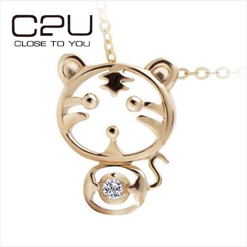 clo2u-925纯银 俏皮小老虎 虎虎生威吊坠(送价值68元的925纯银项链一