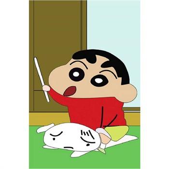 爱艺/aiyi 迷你diy贴钻画蜡笔小新(二 卧室卡通动漫 中东圆钻画 随机