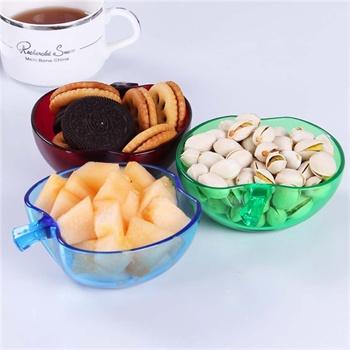haixin海兴 三件套可爱放零食水果小果盘苹果盘果盆零食碗小果篮