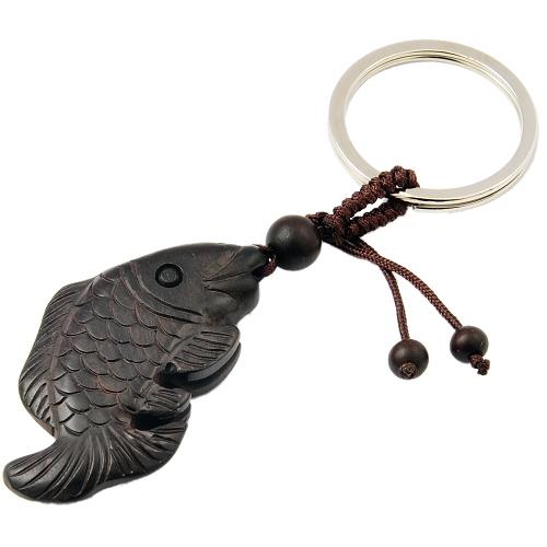 [当当自营] 辟邪木手串钥匙扣雕刻鲤鱼-聚福木艺(售完