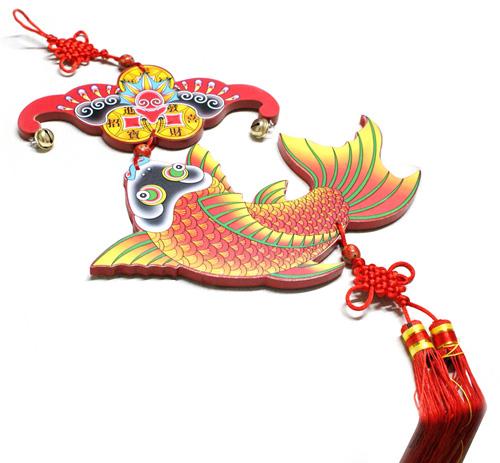 [当当自营]佳怡诚品 高档中国传统文化年年有鱼木牌(礼盒装
