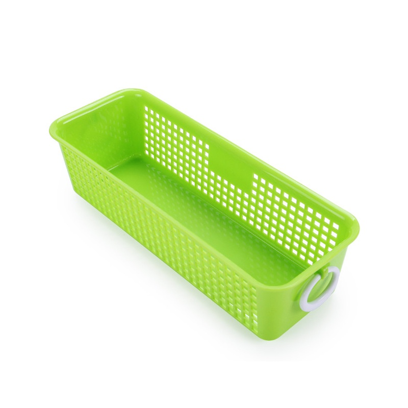 多彩加厚长方形塑料收纳篮