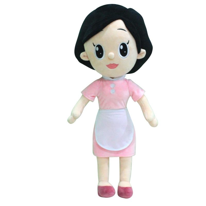 卡通大头儿子和小头爸爸毛绒玩具公仔可爱卡通儿童礼物布娃娃玩偶 _围