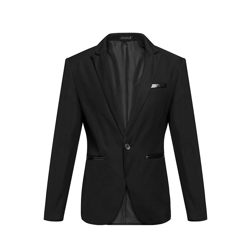 梵肯2015男士小西装外套韩版修身潮流休闲黑色西服男