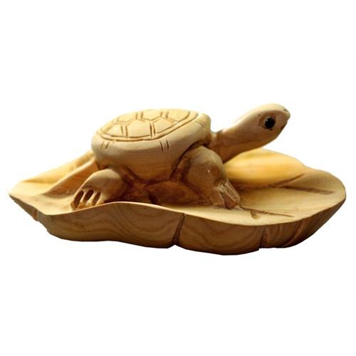 【星宏紫阳】原色黄杨木木雕~~树叶 乌龟*一夜归来