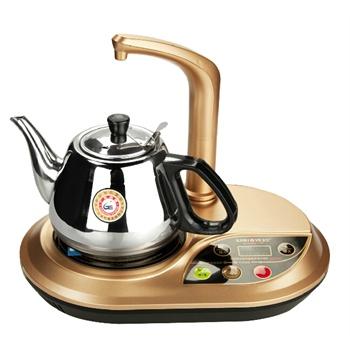 荔江 快速自动上水电热水壶保温 泡茶烧水壶不锈钢 热水壶套装