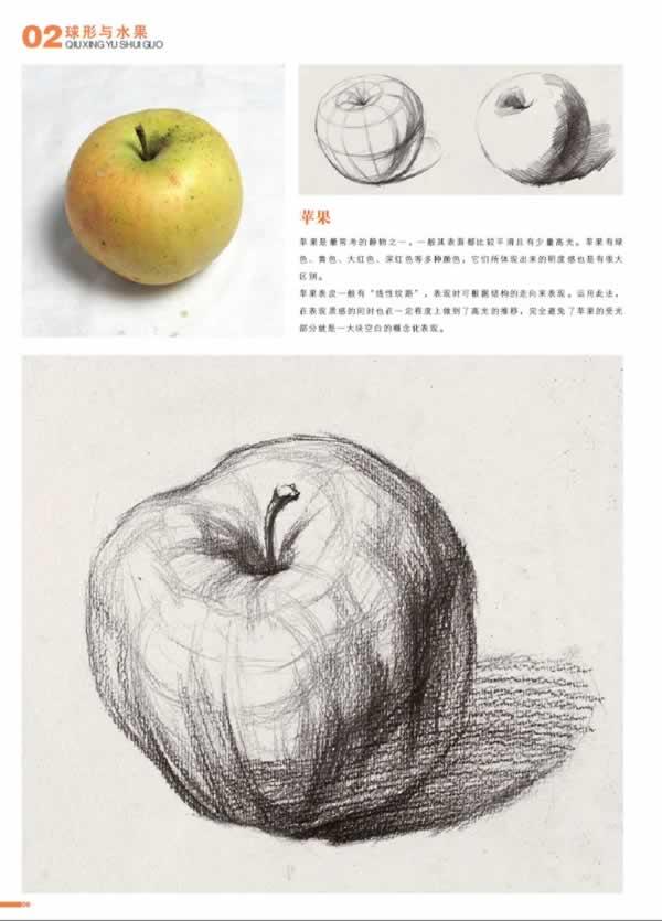 光影素描苹果步骤