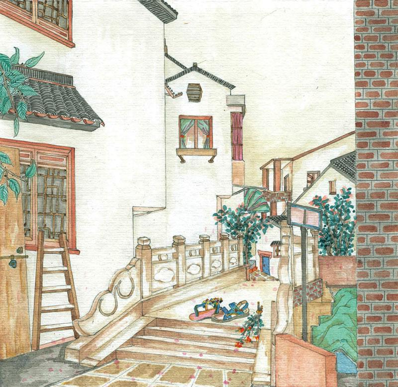 旅游 手绘苏州恋爱地图   &nbsp苏州是一座保护较好的江南古城