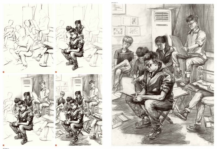 【rt3】于萍速写教学09--场景速写临摹 于萍著 湖北美术出版社