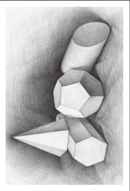 素描基础画的几个几何体 有一个是两个长方体贯穿的十字 叫什么图片
