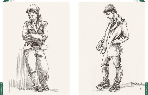 场景绘画步骤 人物组合作品欣赏 日常运动类作品欣赏 场景速写作品