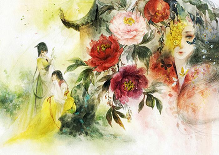 漫友古风画集系列:青梅引 丹青引 刀剑笑(套装共3册)图片