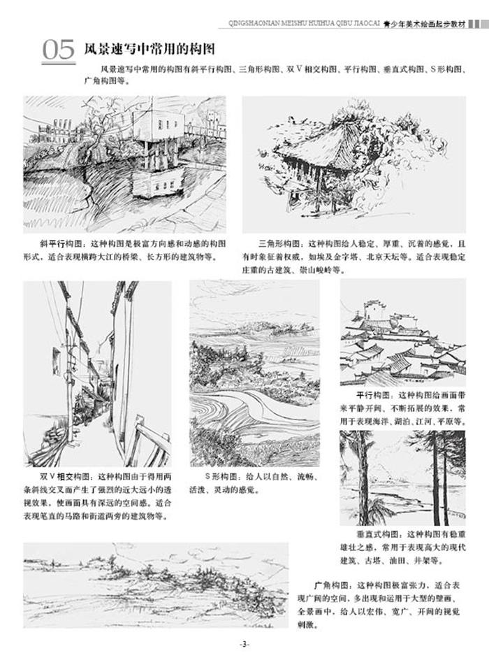 内容简介 本书详细介绍了风景速写的基础知识,集中了很多题材,以分解